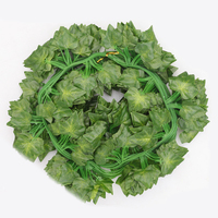 36PCS Artificial Green Leaf Garland Plants Vine Fake Foliage Flowers Home Decor Plastic Artificial Flower Rattan String