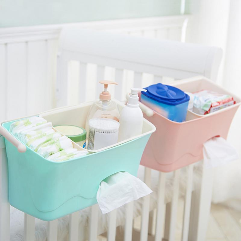 Подвесная коробка для хранения детских подгузников, органайзер для детской кроватки, органайзер для новорожденной игрушки, бутылочка для к