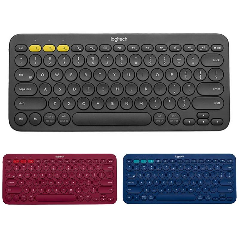 Logitech K380 Multi Device Bluetooth Wireless Keyboard for Mac  Chrome Windows Ultra thin Tablet Keypad for iPhone iPad  AndroidKeyboards