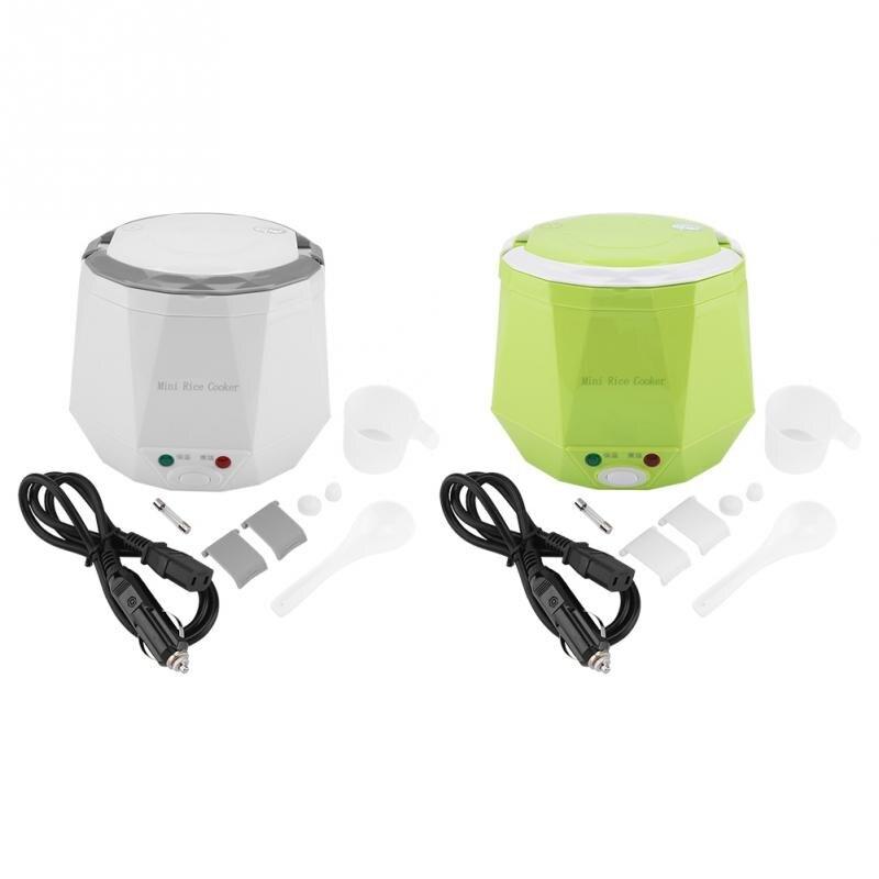 12V 100W 1.3L портативная рисоварка многофункциональная электрическая рисовая Пароварка для подогрева автомобиля Ланч-бокс контейнеры для еды