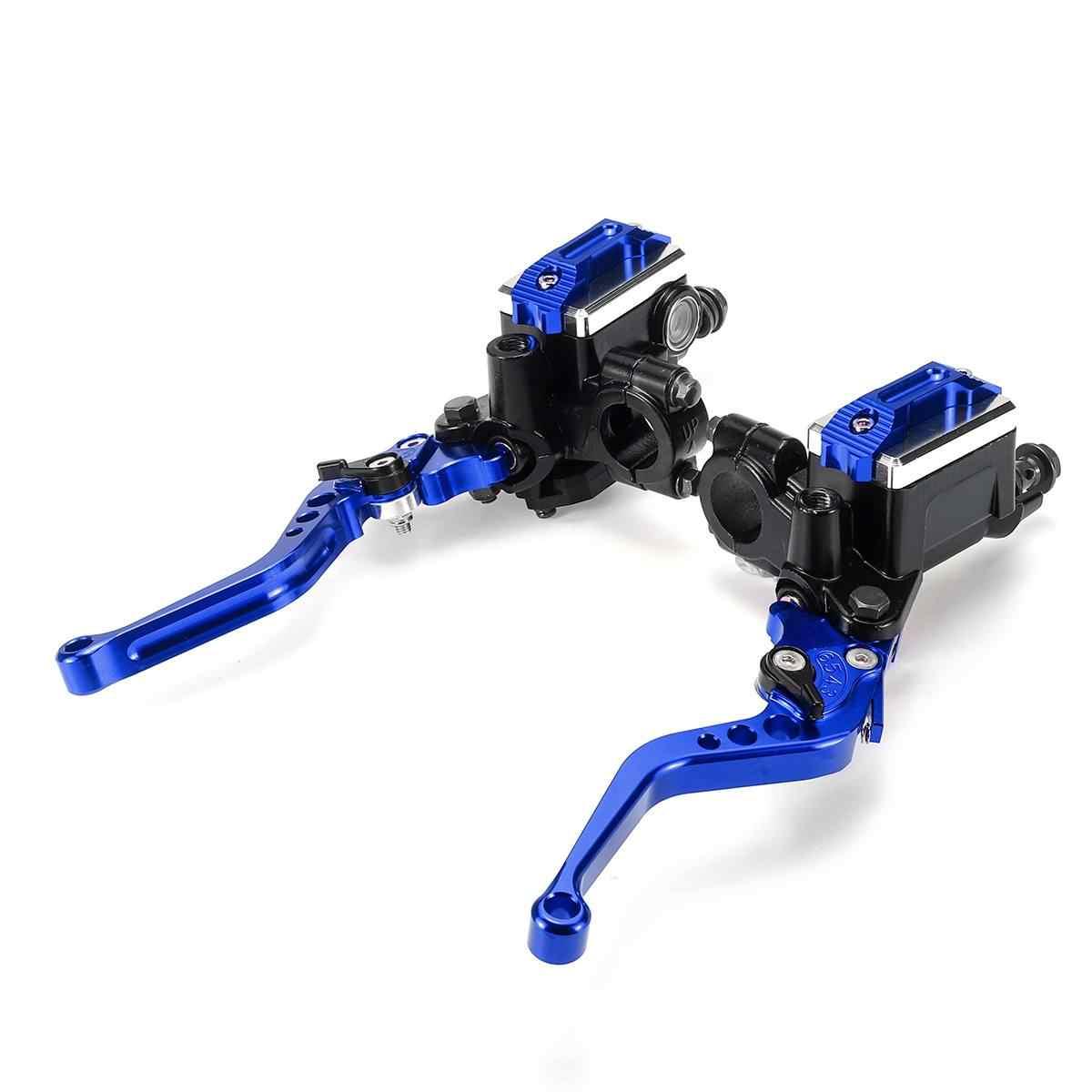 22cm 7/8 moto maître-cylindre leviers hydraulique frein pompe embrayage poignées guidon levier réservoir ensemble pour HONDA Yamah