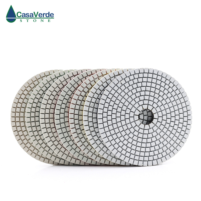 Classe padrão 125 milímetros 5 polegada seco e molhado almofadas de polimento para polimento de pedra e concreto