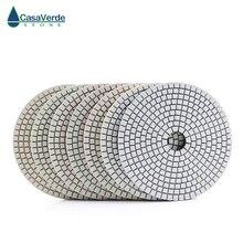 Tampons de polissage de 5 pouces, secs et humides, de classe Standard 125mm, pour le polissage de la pierre et du béton