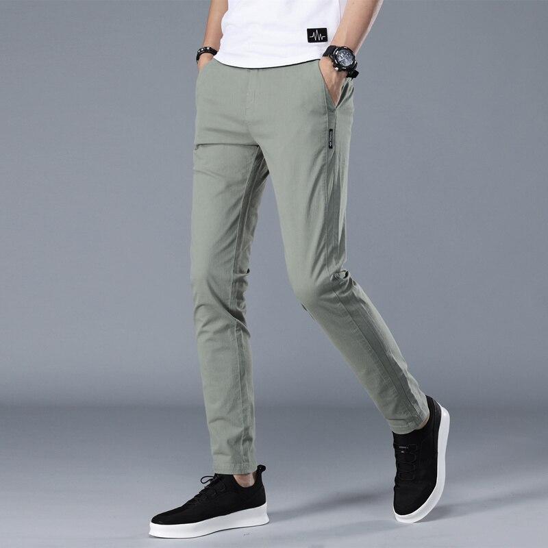 Mens Casual Tapered pants Chinos 2