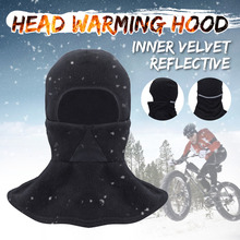 Windproof Cycling Face Mask with Night Reflective Strip Winter Warmer Adjustable Motorcycle Bicycle Bike Face Mask Breathable