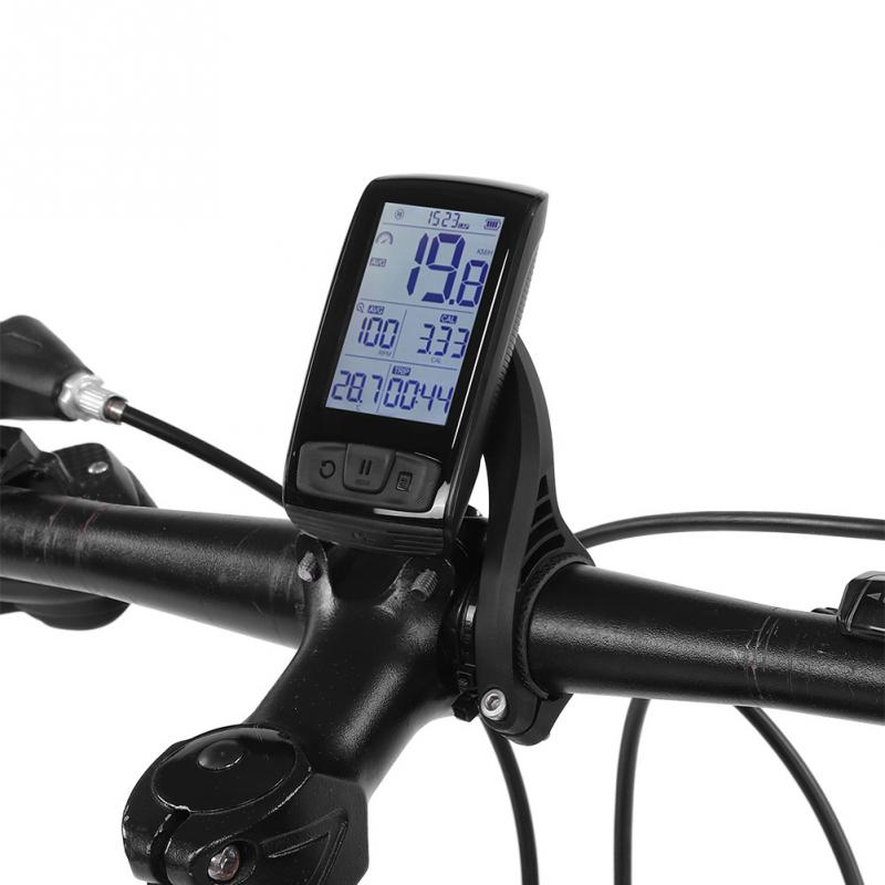 LCD Bike Computer Wireless Bluetooth Bicycle Odometer Speedometer Moutain Road Bike Stopwatch with Computer Holder Mount