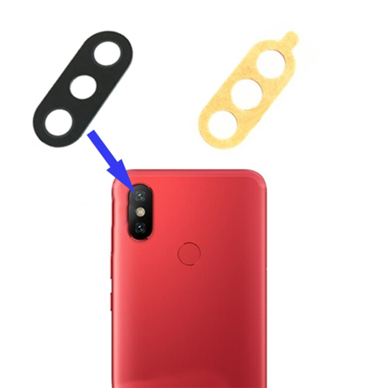 Rear Back Camera Lens Glass Sticker Adhesive Cover For Xiaomi MI 6X MI A2 Protective Camera Lens Glass Cover Replacement Frame