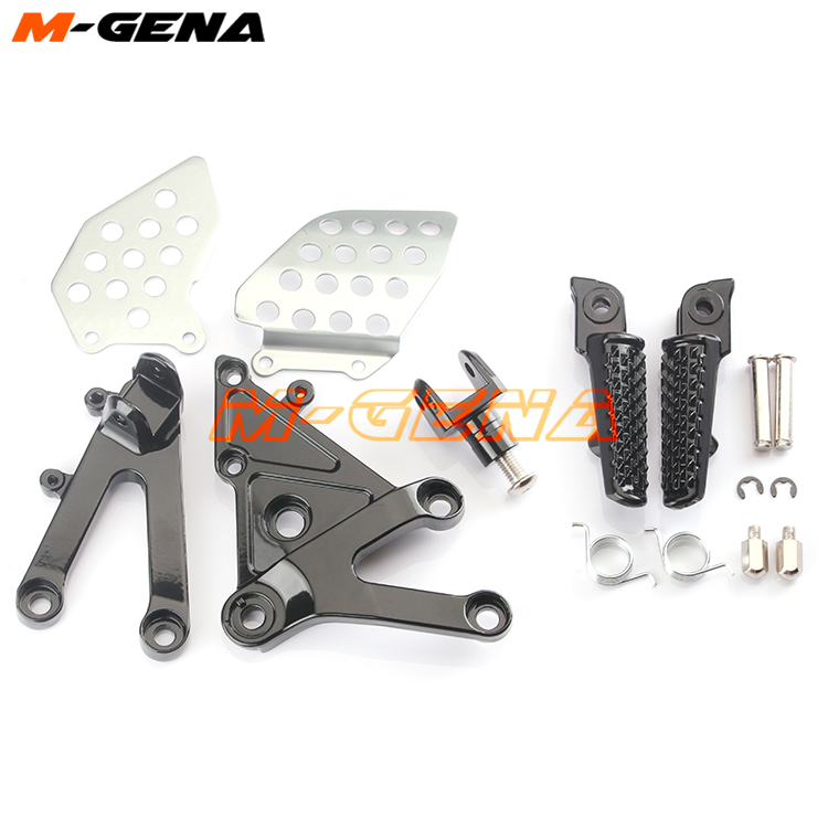 Front Footpegs Foot Pegs Footrest Pedals Bracket For CBR600RR CBR 600RR F5 2003 2004 2005 2006 03 04 05 06