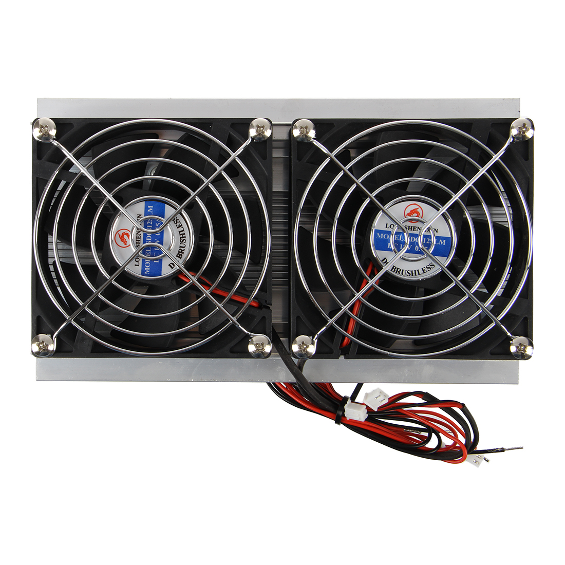 Thermoelectric Peltier Refrigeration Cooling System Kit Cooler Double Fan DIY|Fan Parts| |  - title=