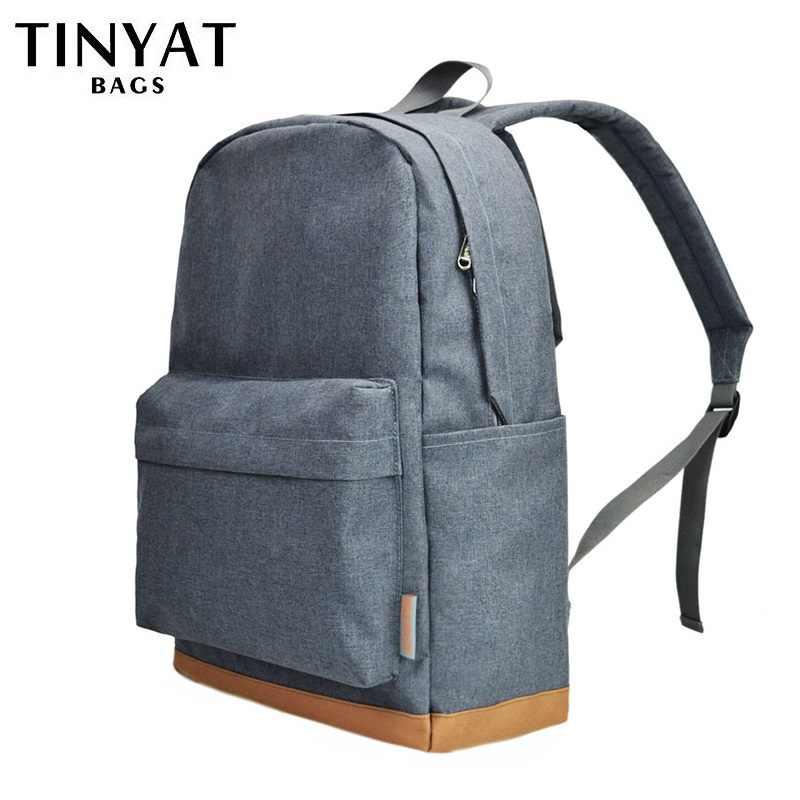 TINYAT Для мужчин 15 дюймов ноутбук рюкзак с USB мужские рюкзаки школьные рюкзаки для отдыха для подростков путешествия Для женщин плечо Mochila рюкзак для ноутбука