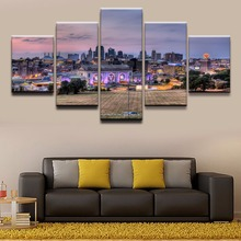 Canvas Wall Art Pictures Modular Home Decorative Framework 5 Pieces Kansas City Paintings Living Room HD Prints Posters