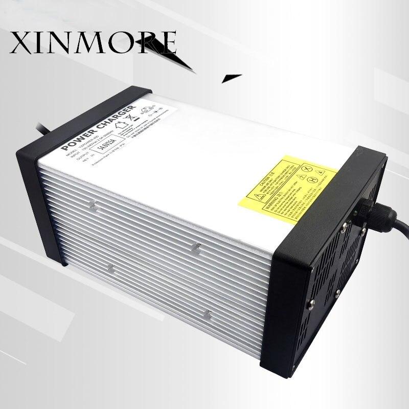 Cargador de batería de litio de 71,4 V 10A 9A 8A para 60 V (63 V) batería de iones de litio e bike AC DC fuente de alimentación para herramienta eléctrica-in Cargadores from Productos electrónicos    1