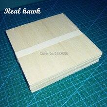 AAA+ Balsa Wood Sheets 100x100x2mm Model Balsa Wood for DIY RC model wooden plane boat material