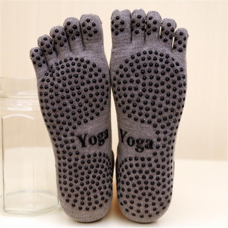 New Non-slip Cotton Yoga Socks Women Five-toes  Breathable Socks Dance Pilates Yoga Socks