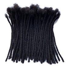 YONNA человеческие волосы дреды микрозамки сикерлоки дреды для наращивания волос 60 локов полностью ручной работы 0,4 см Ширина