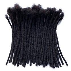 YONNA Menschliches Haar Dreadlocks Microlocks Sisterlocks Dreadlocks Haar Extensions 60 Loks Voller Handgemachte 0,4 cm Breite
