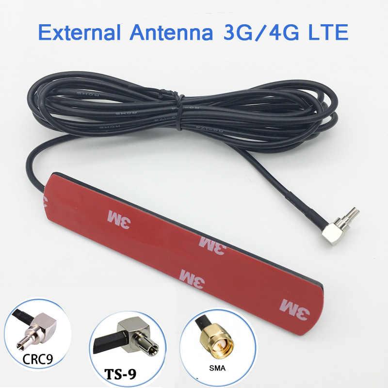 Antena WIFI 3G 4G LTE antena de parche 700-2600 MHz 3dbi con conector CRC9 macho TS9 SMA cable de extensión 3 5 M para enrutador de módem