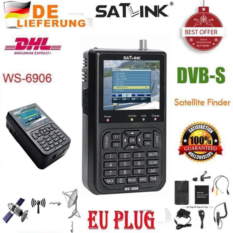 Digital Satellite Signal Meter Finder WS 6906 DVB S FTA Data AV OUT and AV IN