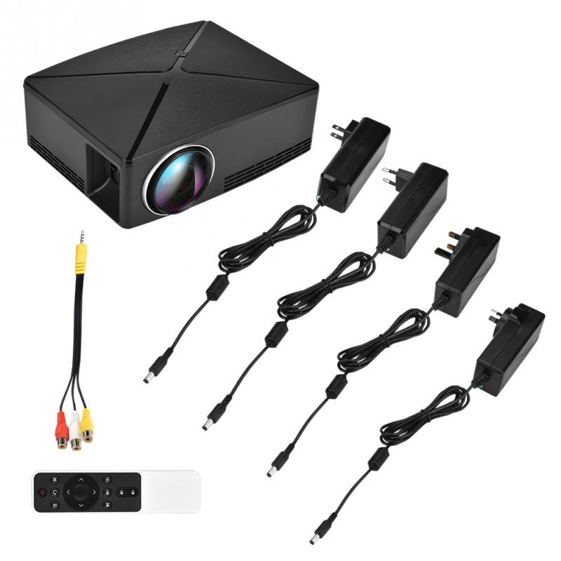 Goedhartig Multimedia Mini Projector High-definition 3d Led Hd 1080 P Usb Office Home Theater Voor Android 110-240 V Zwart