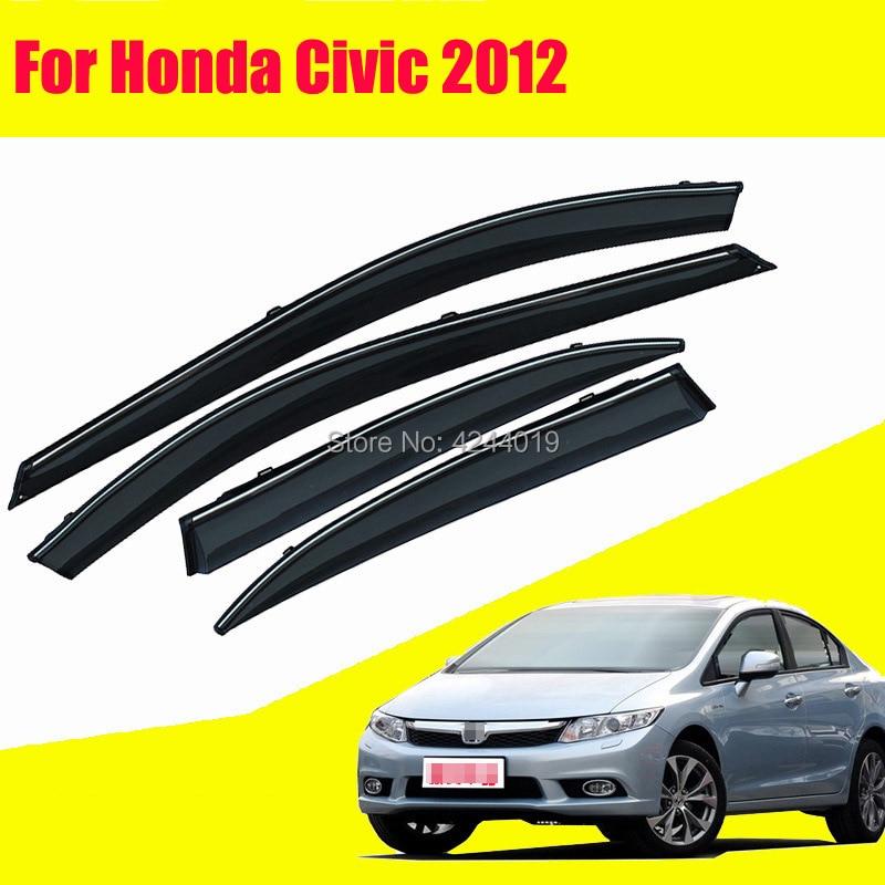 Car Sun Visor Window Rain Shade for Plastic Accessories For Honda Civic 2012