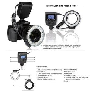 Image 2 - Andoer RF 550D Macro LED Ring Flash Light Speedlight Speedlite voor Canon Nikon Sony Olympus Pentax GN15 Flash Licht