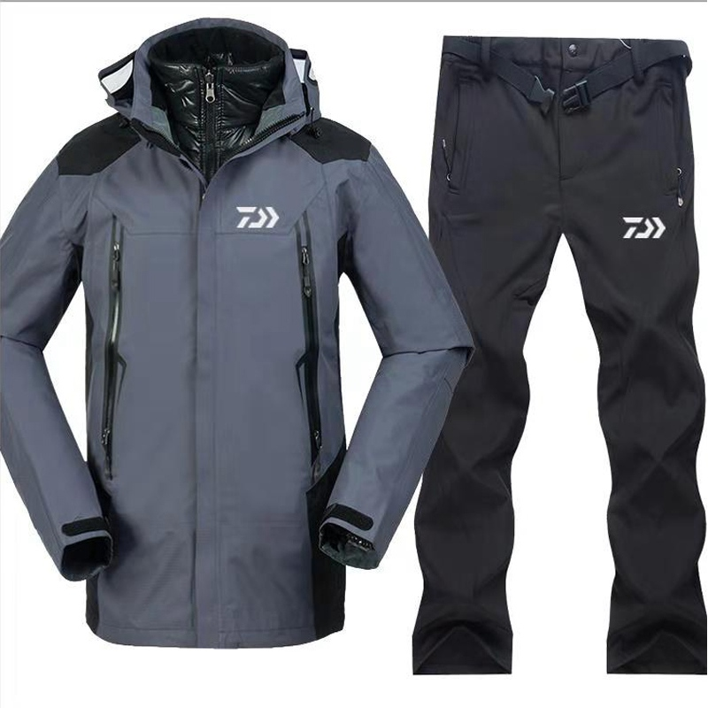 1 Set 2018 Daiwa New Outdoors Men Fishing Clothing Sets Breathable Sports Wear Set Hiking Windproof Outdoor Fishing Jacket&Pants