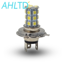5050 27Led H4 Headlight Auto Fog Light Car Led Bright White Lamp 6500K 12V Moto Motorcycle Bright HeadLamp Parking Driving Bulb newest h4 motorcycle headlight hi low bulb all in one lamp 12v 2 sides led motorcycle headlamp with blue led on top