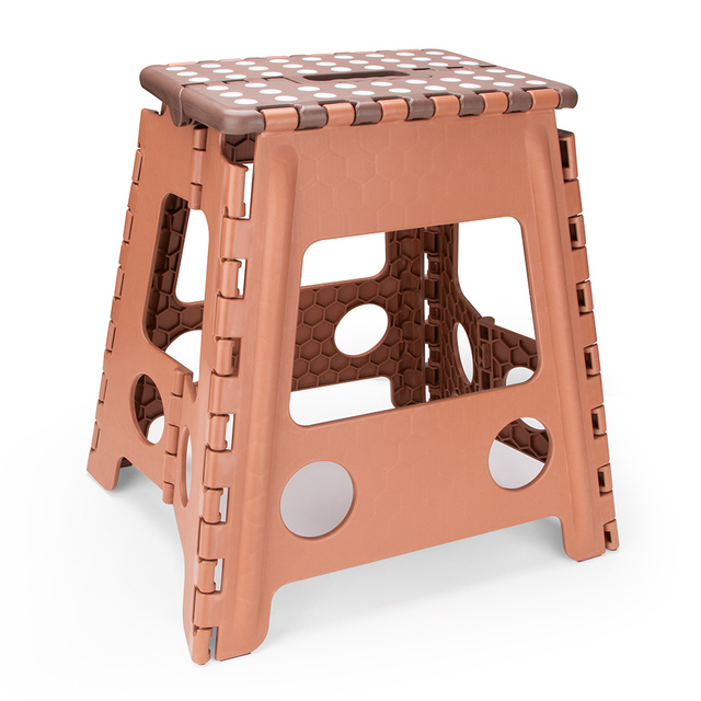 Living Plastic Folding Step Stool 16 inch Height Premium Foldable Stool for Kids & Adults Kitchen Garden Bathroom Stepping Stool