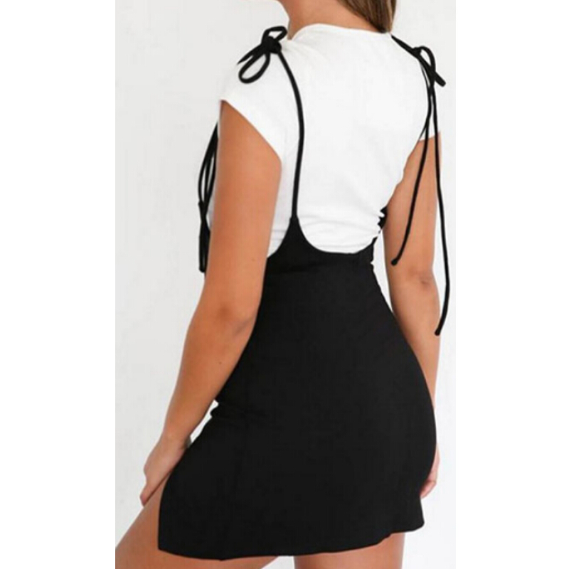 Summer Skirts Women Ladies Short Mini Skirt Preppy Style High Waist Solid Black Stretch Pencil Skirt