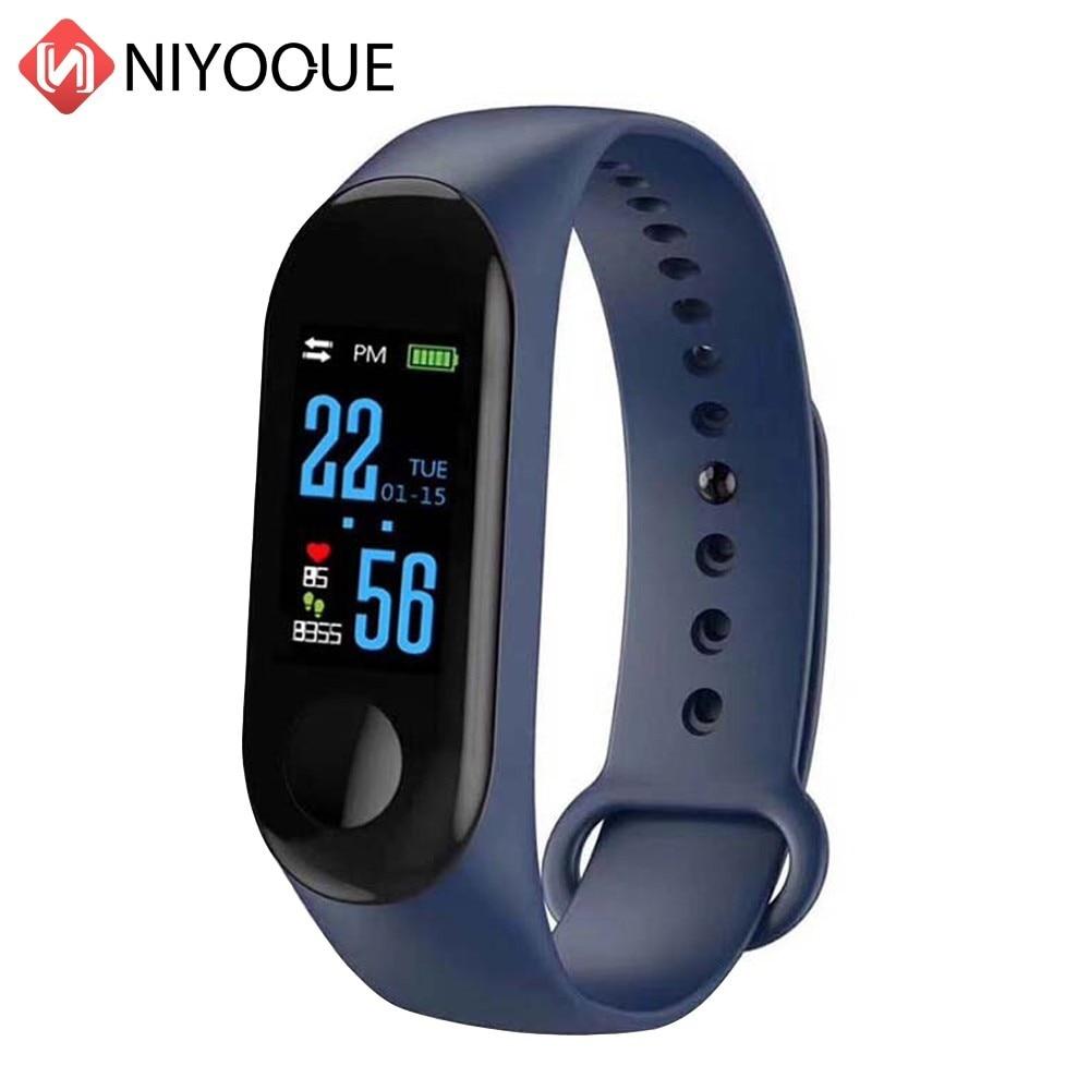 Bracelet Sport intelligent M3 Bracelet Fitness bande de pression artérielle 3 écran tactile OLED Message fréquence cardiaque montre intelligente pour Xiaomi