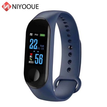 Sport Smart Wristband M3 Fitness Bracelet Blood Pressure Band 3 Touch Screen OLED Message Heart Rate Time SmartWatch For Xiaomi