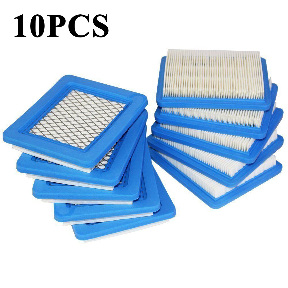 10x Air Filter Yard Lawn Mower for Briggs&Stratton 491588 491588S 399959 Durable|Cleaning Brushes| |  - title=