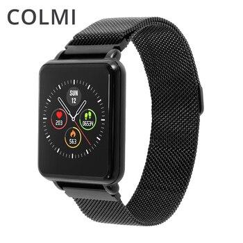 COLMI لاند 1 كامل ساعة ذكيّة بشاشة لمس IP68 للماء بلوتوث جهاز مراقبة اللياقة الرياضية الرجال ساعة ذكية لنظام تشغيل الأندرويد الروبوت الهاتف