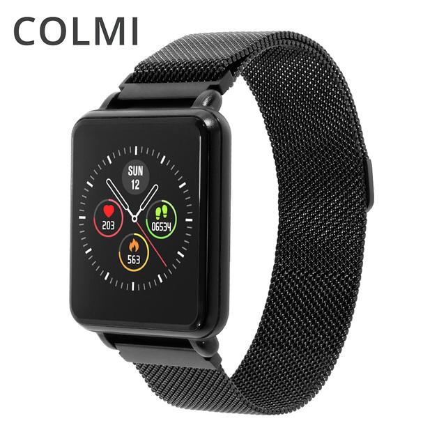 $ US $28.37 COLMI Land 1 Full touch screen Smart watch IP68 waterproof Bluetooth Sport fitness tracker Men Smartwatch For IOS Android Phone