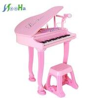 Мульти функция электронный орган ребенок дети музыка фортепиано с микрофоном девочки головоломка игрушка