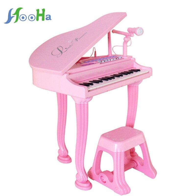 Multi-fonction électronique orgue bébé enfants musique Piano avec un Microphone filles Puzzle jouet