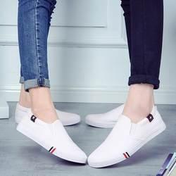 Весенне-осенняя повседневная обувь, Мужская парусиновая дышащая прочная обувь без шнуровки для взрослых, базовая обувь для пар, мужская и