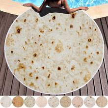 150cm Soft Blanket Throw Tortilla Comfort Food Creations Burrito Wrap Blanket Perfectly Round Throw for dropshipping