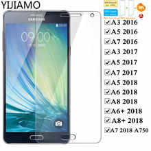 9H Protective Glass On The For Samsung A3 A5 A7 2016 2017 Tempered Glass for Samsung Galaxy A5 A6 A7 A8 Plus 2018 A750 A730 film все цены