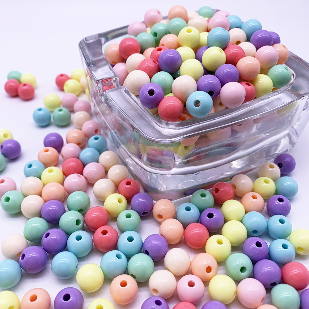 Colorful Plastic Beads Large Hole Mix Pig DIY Making 15mm 100 pc Girl Kid Child