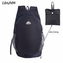 LDAJMW Portable Folding Bag Travel Backpack Outdoor Sports Hiking Camping Storage Organizer Multi-function Rucksack
