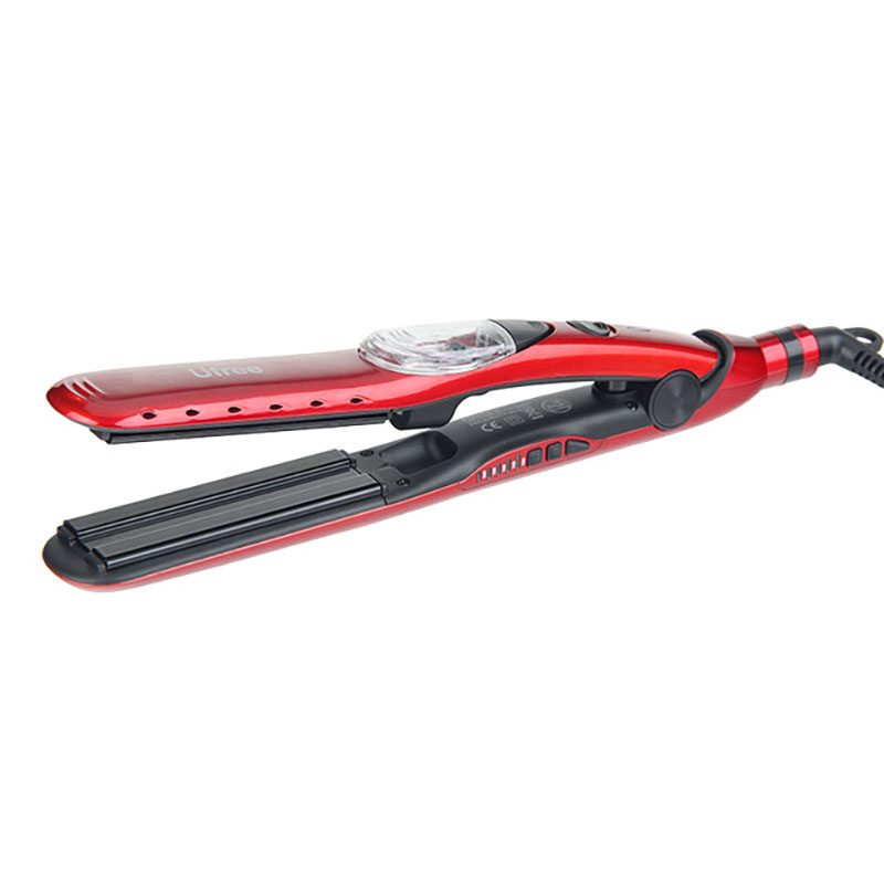 Ufree Steam Function Tourmaline Ceramic Vapor Professional Hair Straightener Hair Irons Waver Hairpin Splint Rapid Heating