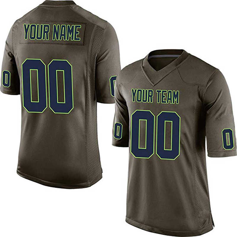 new concept 460b0 90822 Custom Camo Salute To Service Replica High School College Football Jersey  Embroidered Team Logo Name And Your Number Adult Kids