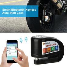 Y801 Смарт Bluetooth мотоцикла Велосипедные замки электрическая сигнализация Сенсор приложение без ключа Противоугонный замок 2019 Водонепроница...