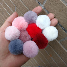 3CM~4CM 1PC Fluffy Cute Mini Pompom faux Rabbit Fur Ball KeyChain Women Accessories Artificial Key Ring DIY Earring Accessories(China)