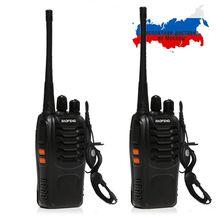 2 шт. Baofeng BF-888S портативная рация 5 Вт ручной Pofung bf 888 s UHF 400-470 МГц 16CH двухсторонний портативный любительский 2 рации baofeng 888 рация для охоты