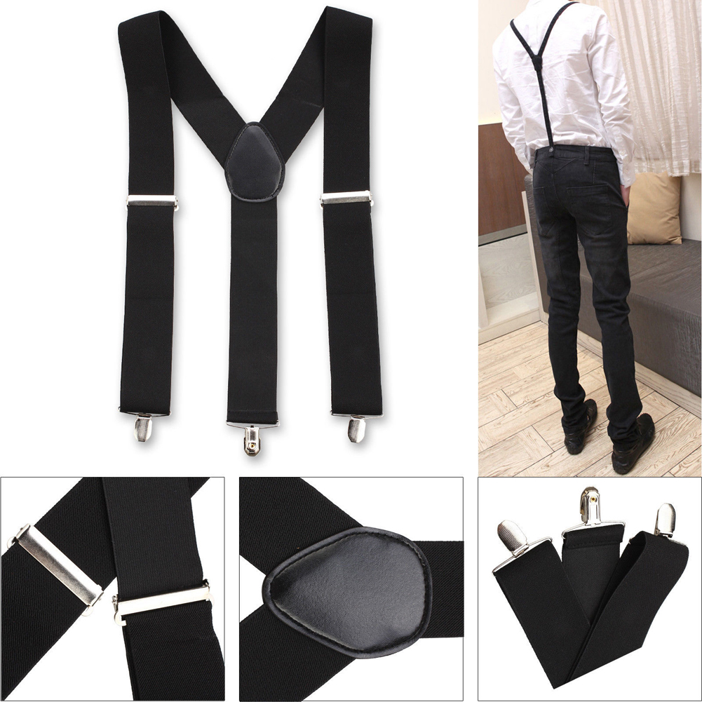 New Adjustable Slim Unisex Men Ladies Trouser Braces Suspenders Clip On Dropshipping