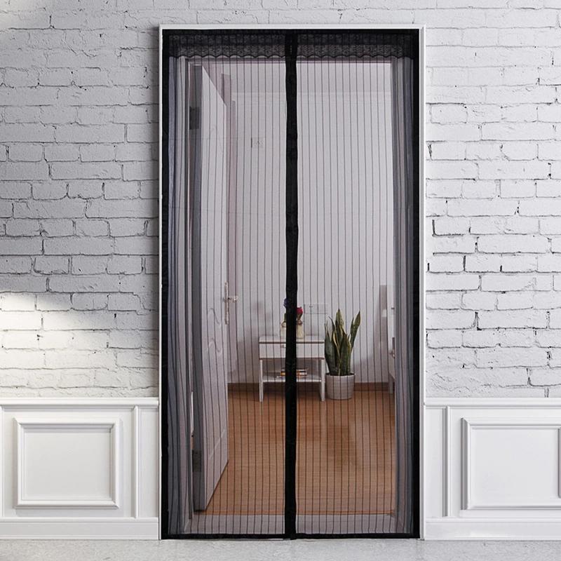 High-Grade Simple Magnetic Soft Curtain Spring Summer Anti Mosquito Screen Denser Net Door Window Curtain 90*210cm/140*240cm