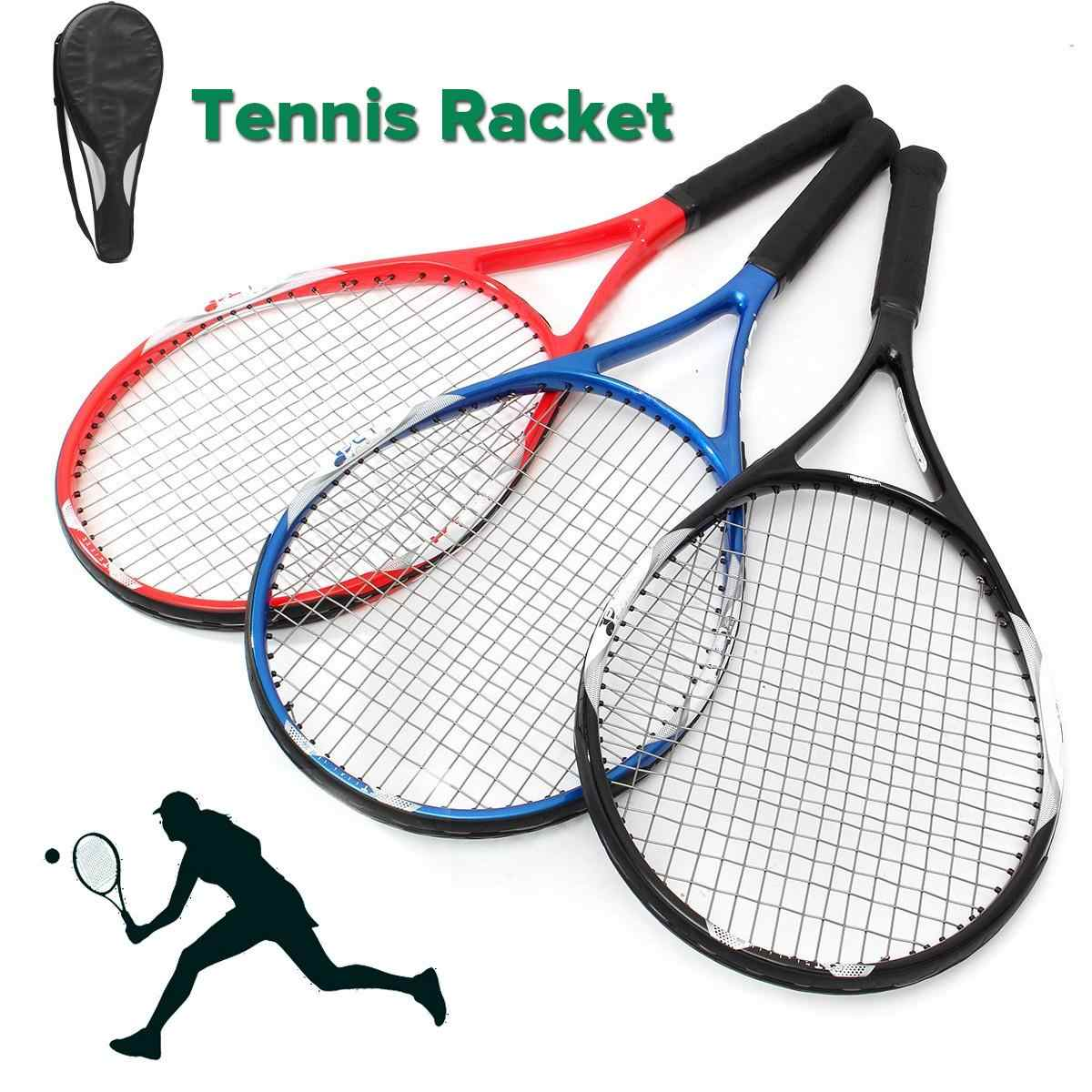 27inch Tennis Racket Racquet Carbon Fiber Equipped Anti-skid Handle Grip With Bag for Amateur junior