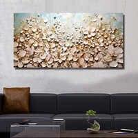POP moderne 100% à la main peinture à l'huile photos sur le mur art décoration abstraite peinture à l'huile sur toile épaisse fleurs à l'huile